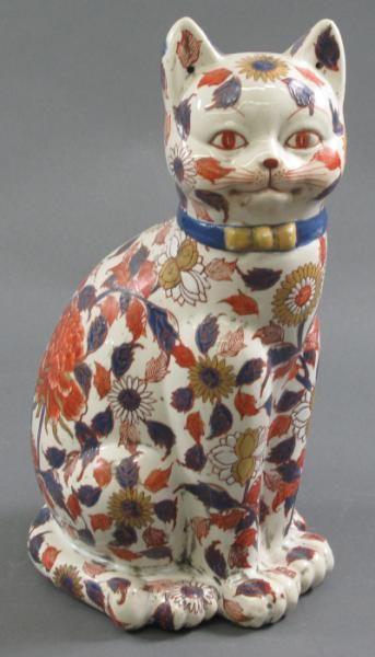 JAPANESE IMARI PORCELAIN CAT