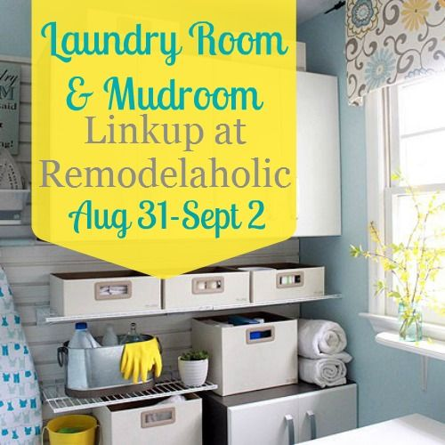 Awesome Laundry Rooms featured at Remodelaholic
