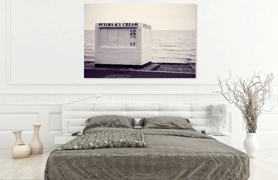 peter's ice cream beach black and white by walkingonwalls on Etsy
