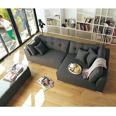 Canapé d'angle droit avec banc