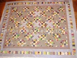 How to sew a quilt from scraps