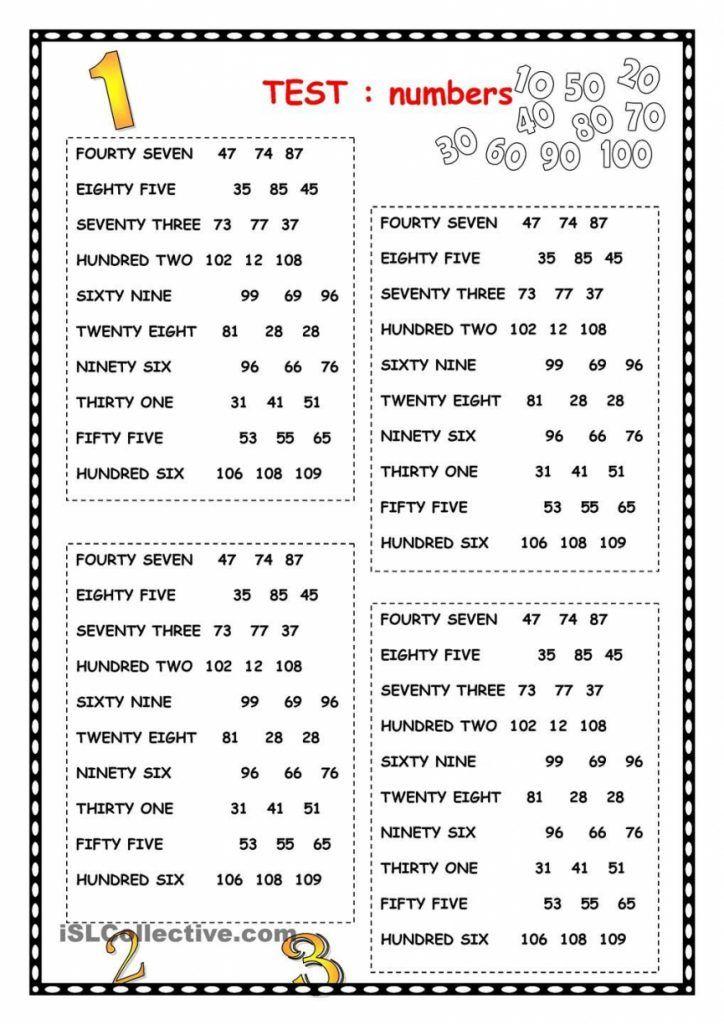Worksheet Spanish Numbers Worksheet 1 100 Review Of Numbers Numbers Pinterest English Worksheets For Kids English Lessons For Kids Learning English For Kids
