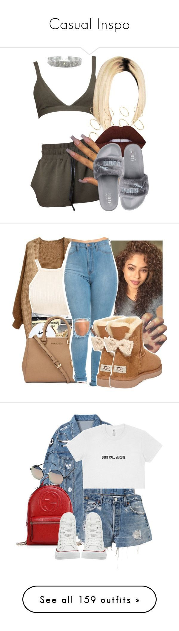 """""""Casual Inspo"""" by oliviamariaairamaivilo ❤ liked on Polyvore featuring ASOS, Lime Crime, Puma, Ray-Ban, UGG Australia, Gucci, Converse, Quay, Rolex and Dorothy Perkins"""