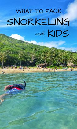 Snorkeling tips for kids when family vacation takes you to best snorkeling spots in Oahu on Hawaii vacation, or on a Caribbean cruise to Cozumel Mexico, or to Key West or Key Largo in Florida Keys, or other top swimming and snorkeling destinations in USA or world! What to wear snorkeling as kids outfit, travel tips for best kids snorkel gear for family travel packing list. Snorkeling after an easy hike sounds like perfect day itinerary! ;)