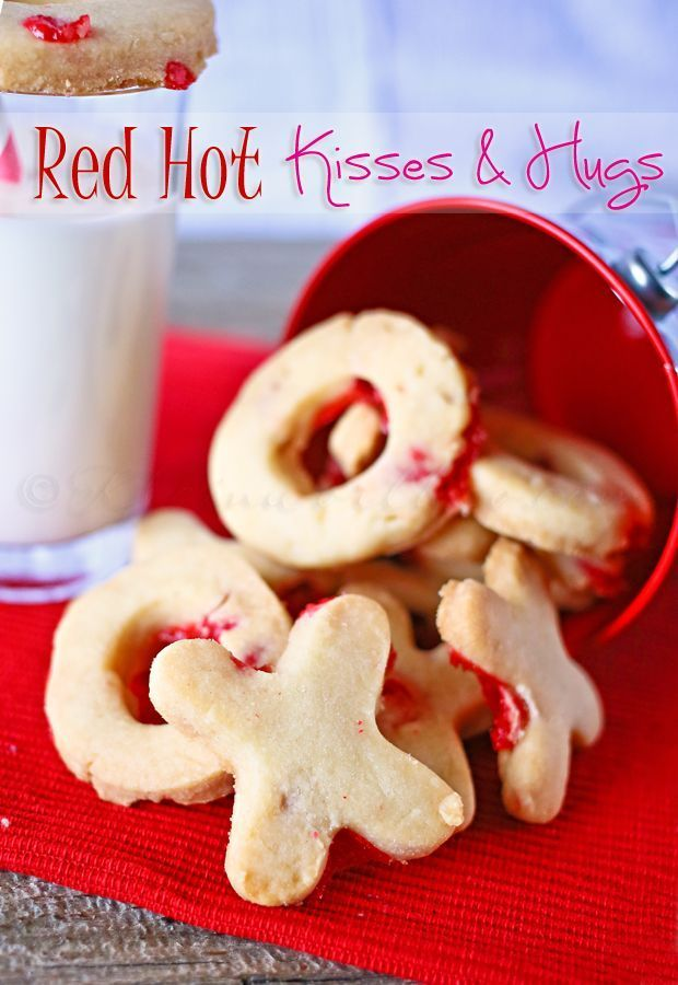Red Hot Kisses and Hugs Cookies on kleinworthco.com #HugsAndKisses101