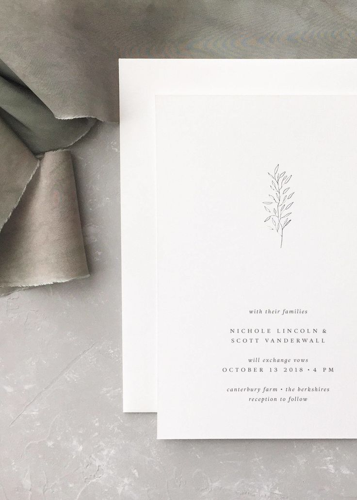 10 Chic Minimalist Wedding Invitations