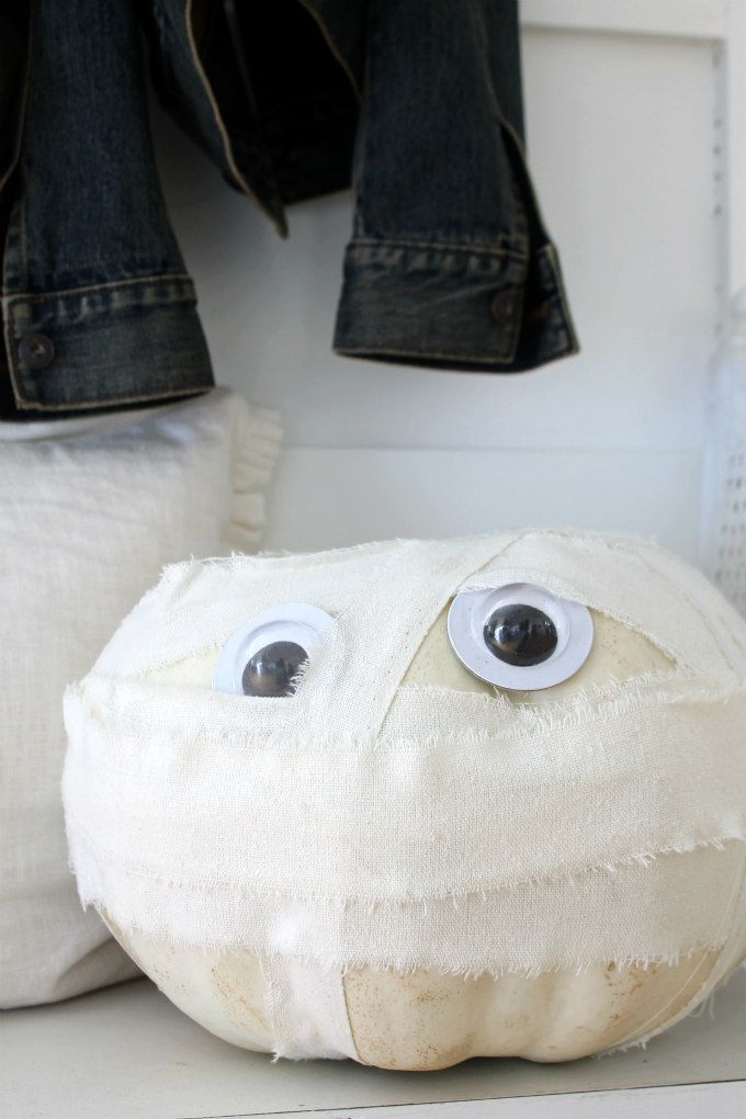 Elegant Easy DIY Mummy Pumpkin Nice Design