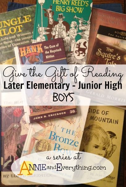 A list of well-loved books to give as gifts for boys aged 8-14 or so. All of them are boy-certified!