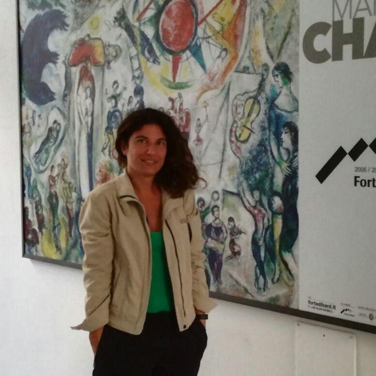 Marc Chagall la sera d'estate al Forte di Bard