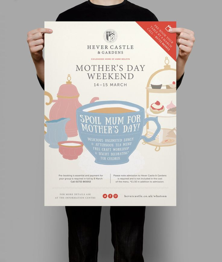 Hever Castle And Gardens Mother's Day Poster Design