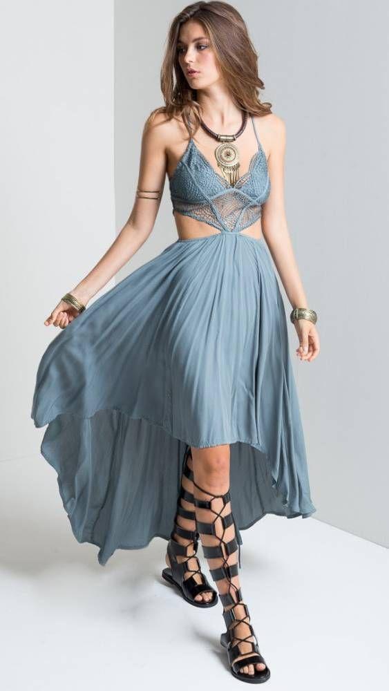 Vestido Patchwork de Renda Mullet - StyleMe