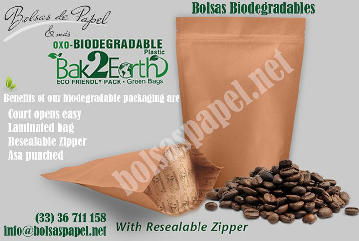 Our #Biodegradable #Packaging contributes to #EnvironmentalcCare with #HighBarrier .  Our Using materials in #Manufacturing of #BioPouches contain not any harmful compound for the environment and for their product.  Order #BioPackaging at http://www.bolsaspapel.net/bolsas-biodegradables/
