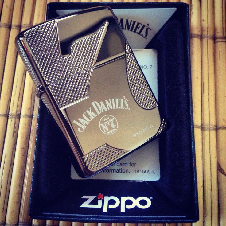 Zippo Armor Jack Daniels Black Ice