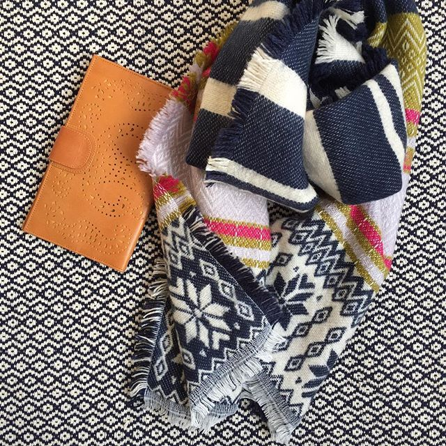 Our chunky intarsia scarf is on sale $40 was $49 and free shipping Aus Wide shop link in bio x