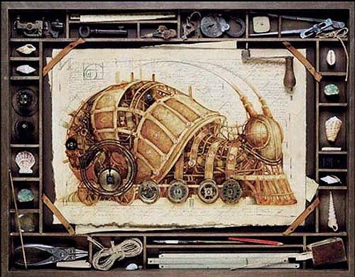 dark roasted blend steampunk art by vladimir gvozdev again steampunk d cor objets. Black Bedroom Furniture Sets. Home Design Ideas
