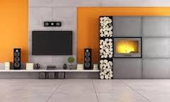 podoba nam się beton w okolicy telewizora a i dodatkowy kolor nam pasuje
