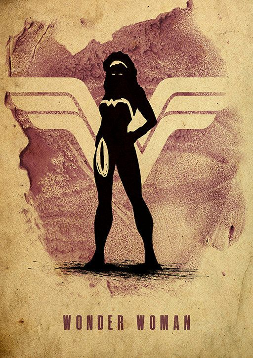 Wonder Woman Justice League Minimalist Poster by moonposter, $20.00