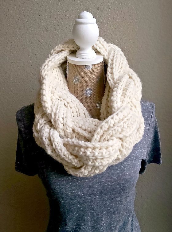 Inspired by all of those beautiful, chunky yarns at the craft store and my desire to make lots of scarves really fast, this double-wrapped, crochet scarf