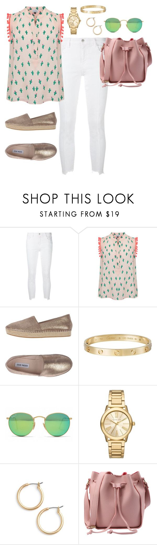 """""""outfit 293"""" by caa123 ❤ liked on Polyvore featuring J Brand, Mercy Delta, Steve Madden, Cartier, Ray-Ban, Michael Kors and Nordstrom"""