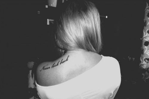 Never look back! Amen!