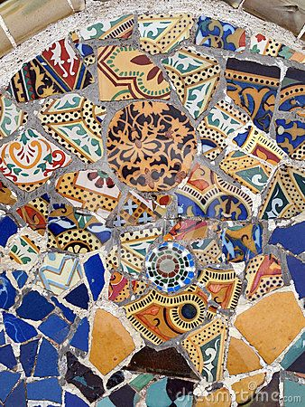 Gaudi mosaic - Write a great travel guide to Barcelona at www.guidora.com