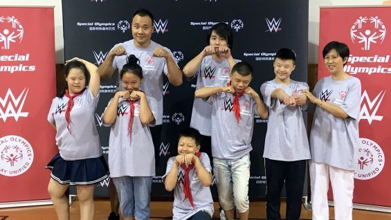 WWE Superstars support Special Olympics' Play Unified campaign in Shanghai | WWE Community