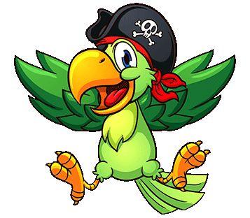 potisk pirát papoušek, originální motiv na tričko,T-ART.CZ, parrot illustration   child design t-shirt
