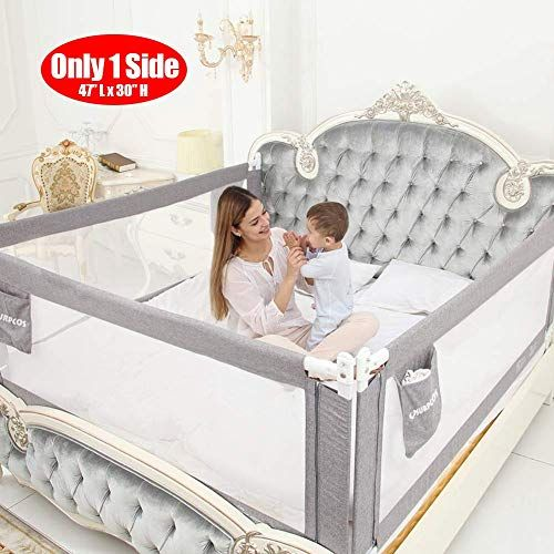 The Surpcos Bed Rails Toddlers 60 70 80 Extra Long Baby Bed Rail Guard Kids Twin Double Full Size Queen King Mattress Grey 1side 47 L X30 H O In 2020