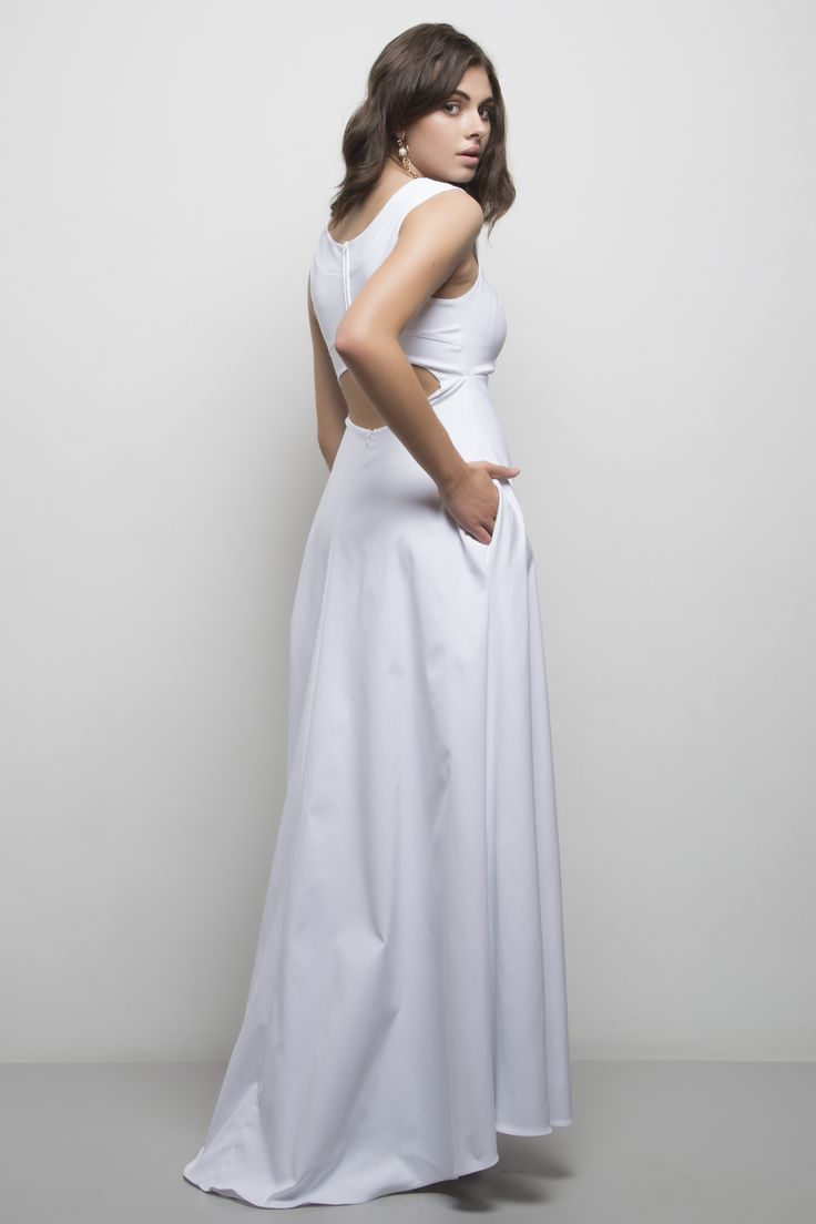 Penelope Gown. Available in royal blue, lunar rock, black, cream, blush, red.