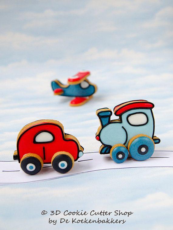 3D Car Cookie Cutter Set van 3DCookieCutterShop op Etsy