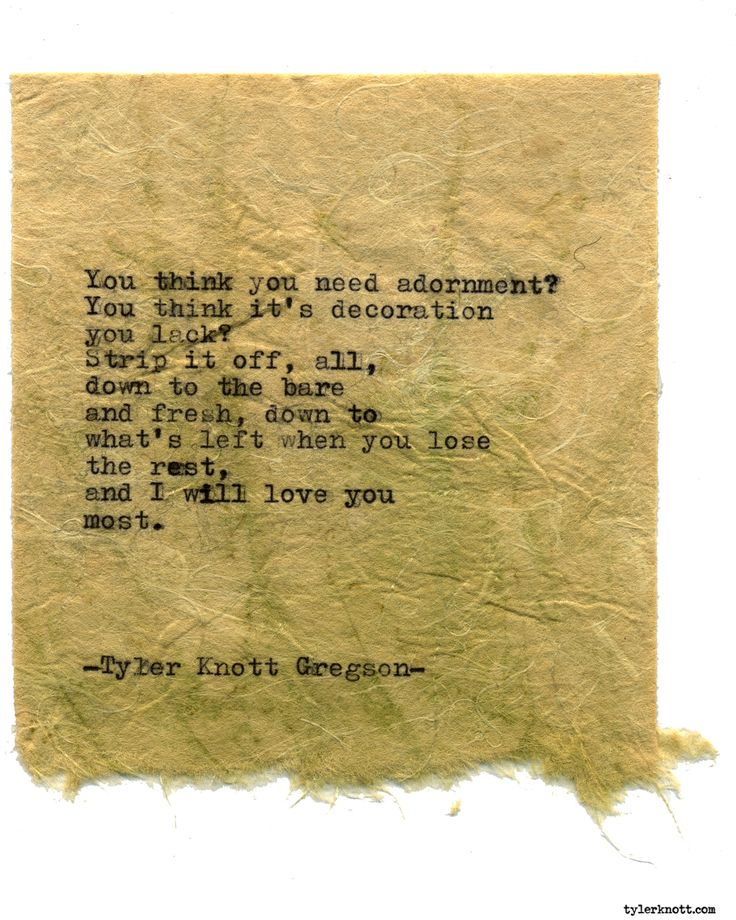 Typewriter Series #1736 by Tyler Knott Gregson