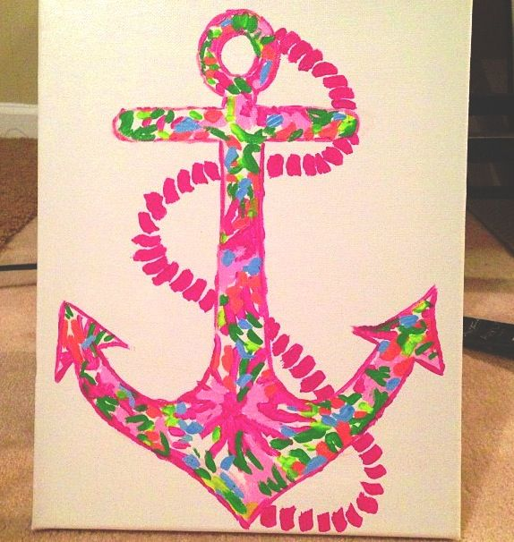 Lilly anchor #Sorority #Crafts #Obsessed