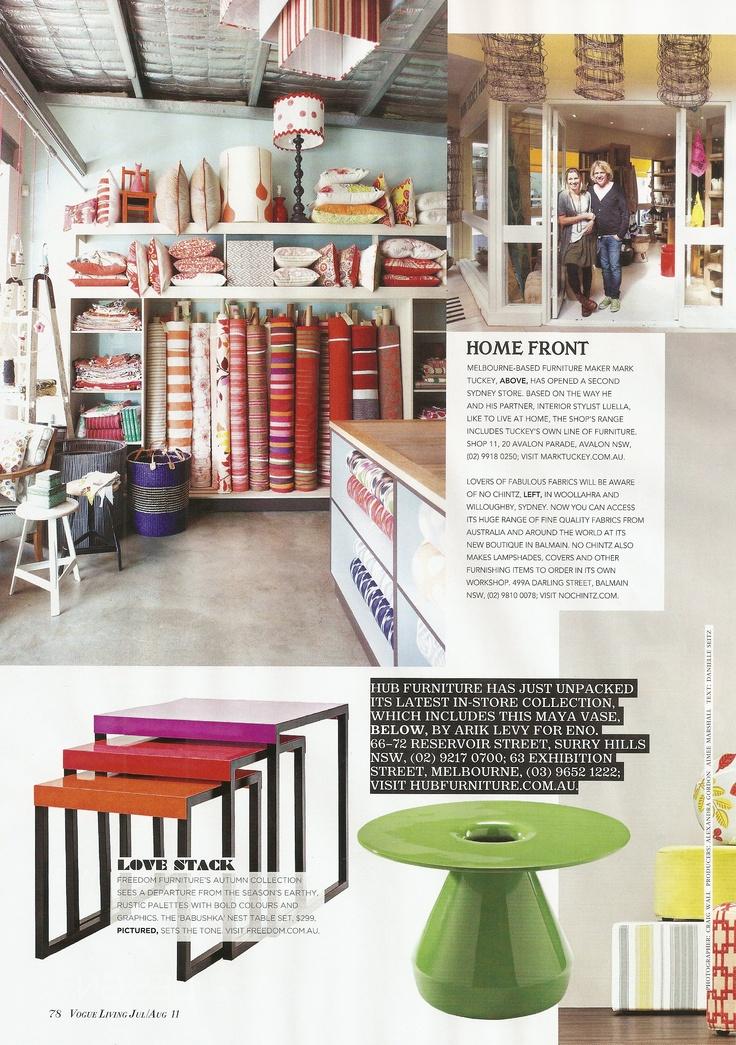 No Chintz Balmain store in Vogue Living 2011