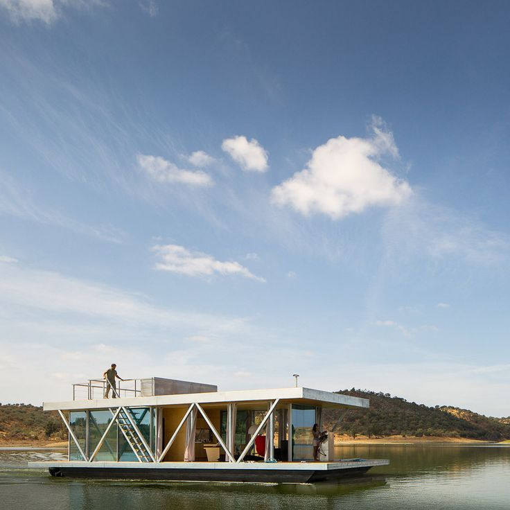 This prefabricated floating house can be built to order and shipped to almost anywhere in the world.