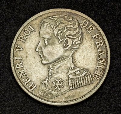 Unusual world coins French Franc Silver Coin Henry V, pretender to the French throne.