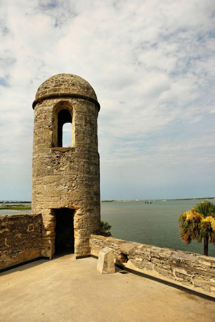 Belltower of the Castillo de San Marcos fort - St Augustine - Florida ...
