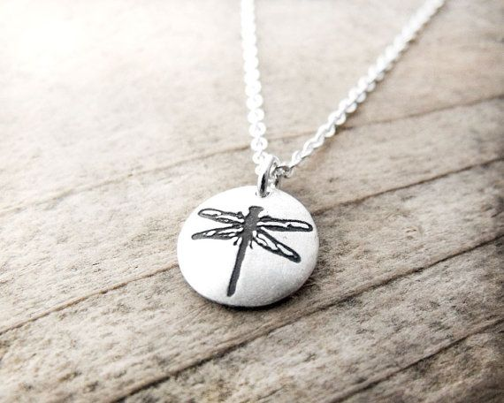 Tiny dragonfly necklace in silver - dragonfly jewelry on Etsy, $34.26 CAD