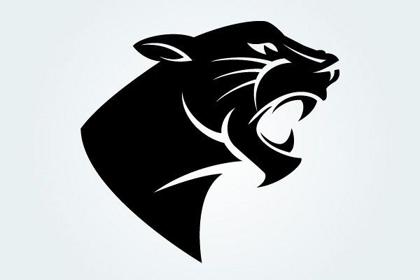 Panther Head Vector Silhouette | TopVectors.com | Patterns ...