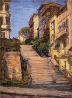 Joice Street (Nob Hill), San Francisco Cross Stitch Pattern - Joseph Kleitsch