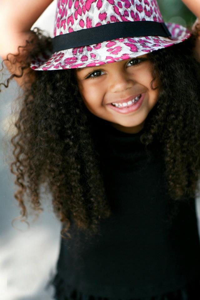 Cute curls on a cute little girl!!