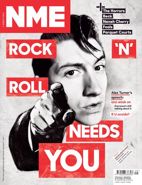 NME magazine, Alex Turner from Arctic Monkeys, March 1st 2014