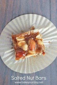Salted Nut Bars | bakeyourday.net