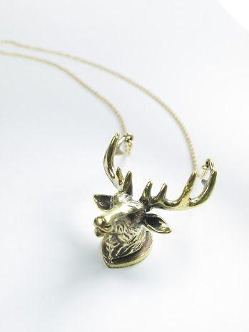 Handmade bronze stag