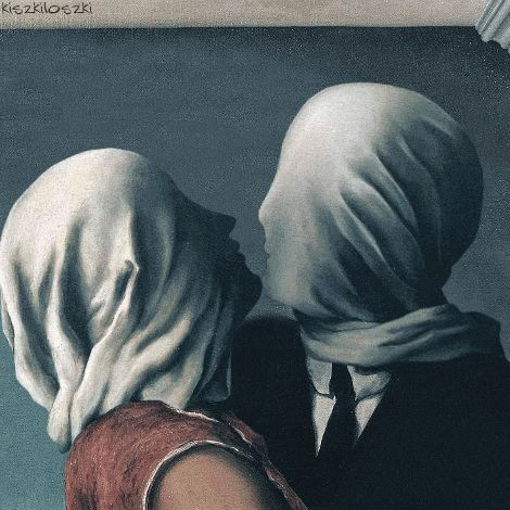 "Inspired by René Magritte's ""The Lovers II"" (1928)"