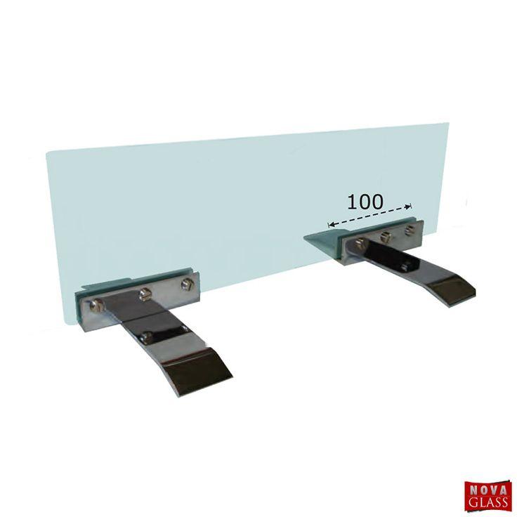 Μεταλλικό στήριγμα για κρύσταλλο τζακιού Κωδ. 2326 | Nova Glass e-shop