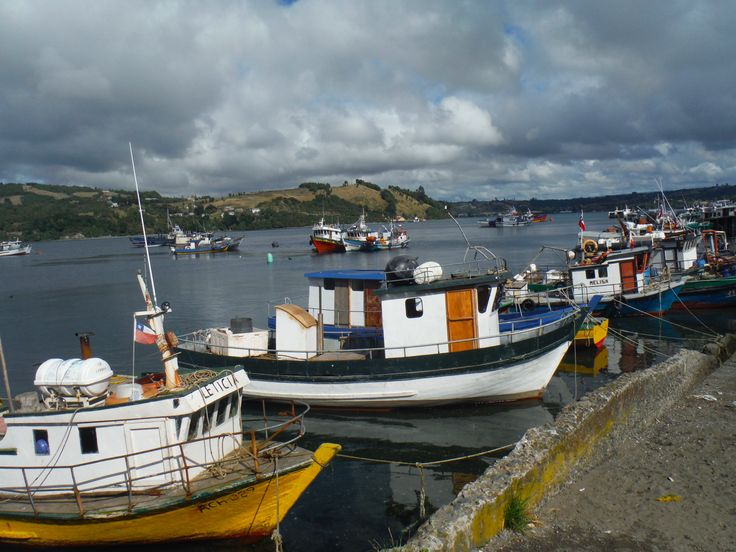 Fishing boats in Dalcahue