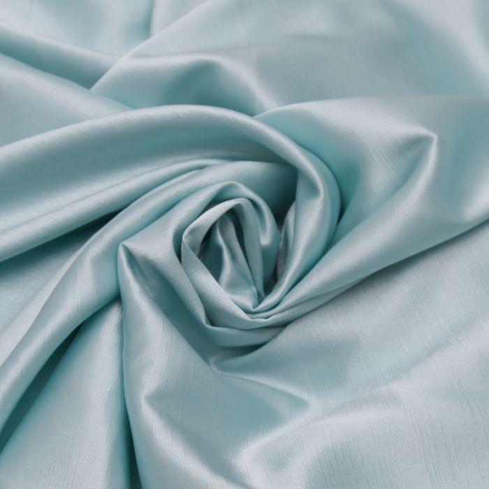 Tecido shantung com elastano azul tifany