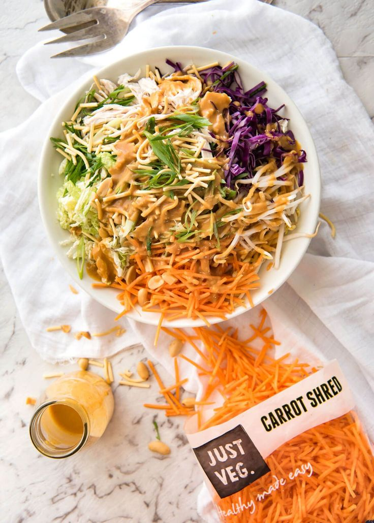 Chicken Salad with Asian Peanut Salad Dressing - made with cabbage ...