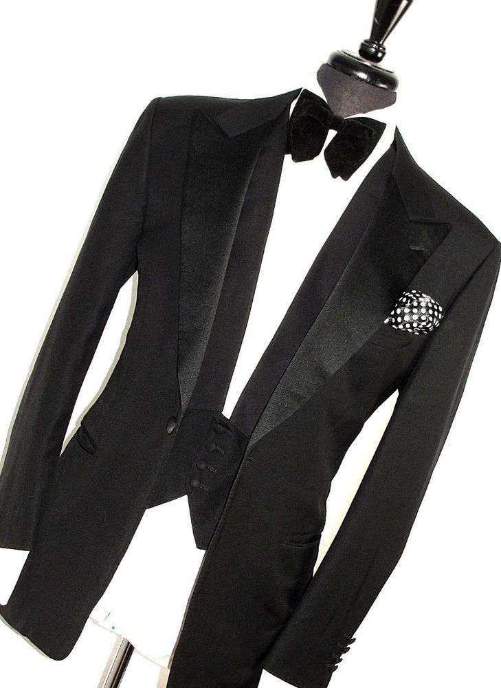 b9664231b5c LUXURY MENS CANALI TUXEDO DINNER TAILOR-MADE BLACK 3 PIECE SUIT 42R W36 X  L32 #fashion #clothing #shoes #accessories #mensclothing  #suitssuitseparates (ebay ...