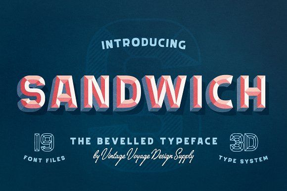 Sandwich 50 Bevelled 3d Type With Images 3d Type